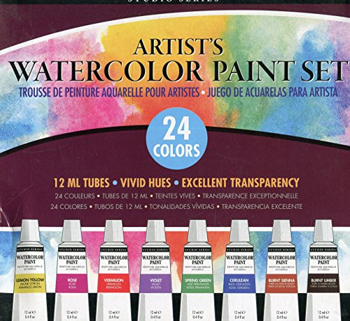 Studio Series Artists Watercolor Paint Set (24 colores)