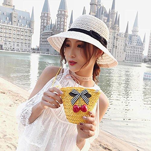 Femmes Rotin Sac Mini Paille Demiawaking npOIwq