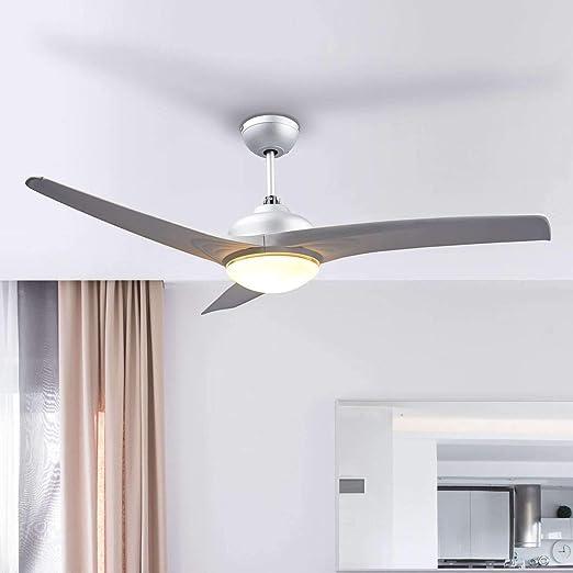 Ventilador de techo con lámpara Emanuel (Moderno) en Gris hecho de Plástico e.o. para Salón & Comedor (1 llama, E14, A++) de LINDBY | Ventilador: Amazon.es: Iluminación
