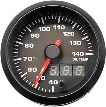 Vosarea Modifizierte Auto Auto Instrument 12 V 2 Zoll 7 Farbe Hintergrundbeleuchtung Einstellbar 40 140 Öltemperaturanzeige Auto Meter Mit Temp Sensor Schwarz Küche Haushalt