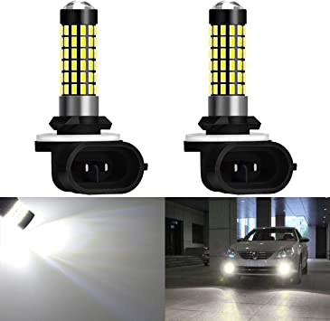 Pack of 2 KaTur Extremely Bright 900 Lumens 3014 78-EX Chipsets 880 886 890 892 Led Bulb DRL Fog Lights Xenon White