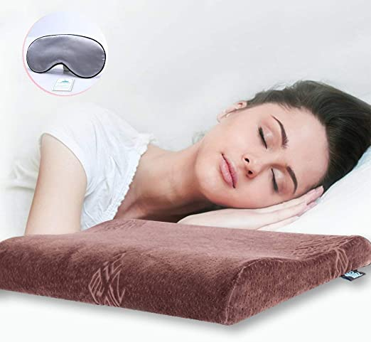 Thin Free Shipping! Sleeper Memory Foam Pillow for Side Sleepers Ultra Slim