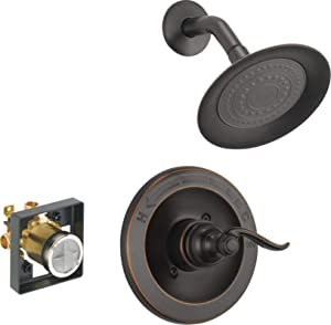 Delta Faucet Windemere Single-Function Shower Trim Kit with Single-Spray Shower Head, Oil Rubbed Bronze BT14296-OB (Valve Included)