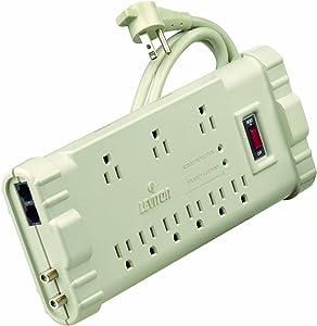 Leviton S2000-PS 120 Volt/15 Amp, Office Grade Surge Strip, ABS Plastic Enclosure, 6-Ft, 5-15P plug