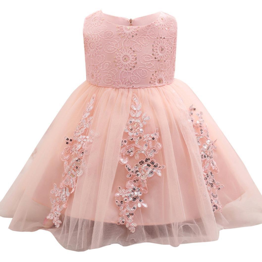 dac0d6047aed2 Oyedens Bambine Principessa Abiti Eleganti Bambina Partito Compleanno  Comunione Swing Vestiti Da Cerimonia Ragazza Vestito Formale.