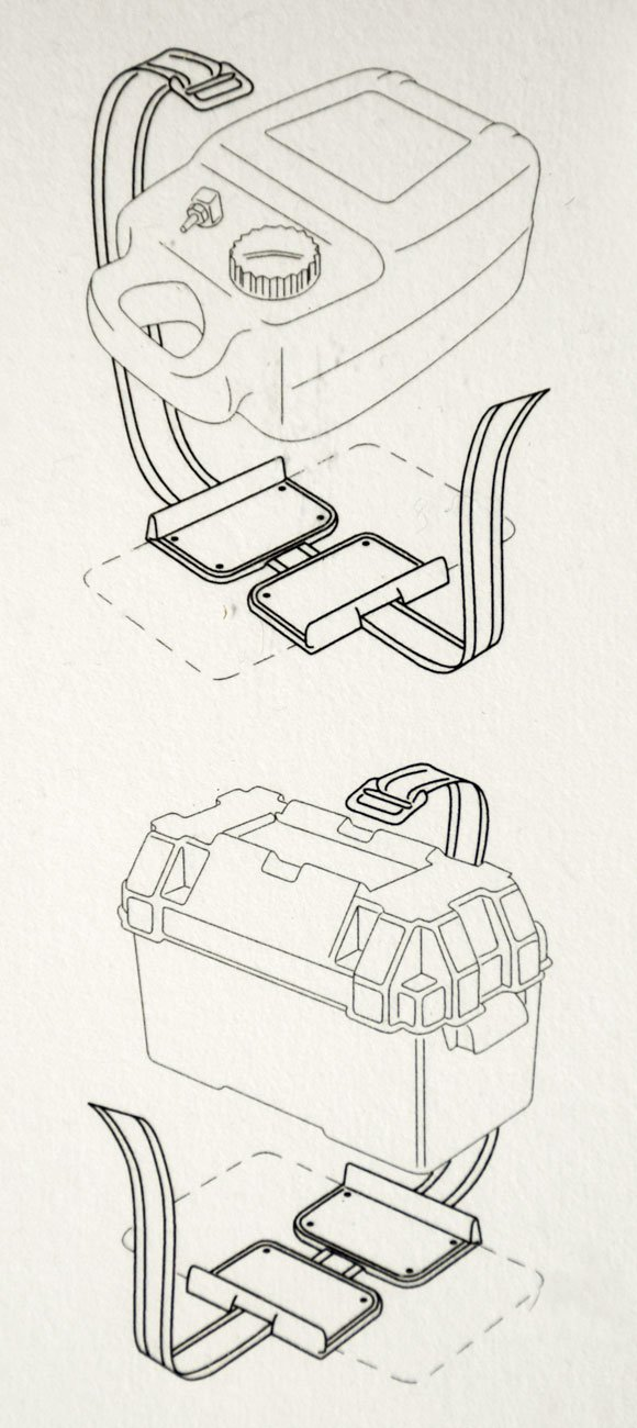 Osculati Halterung f/ür Batterien oder Tanks