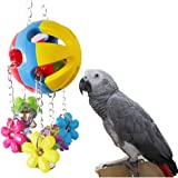 Parrot Chew Toy for Bird Macaw African Grey Eclectus Budgies Parakeet Cockatoo Cockatiel Conure Lovebird Canary Cage (A)