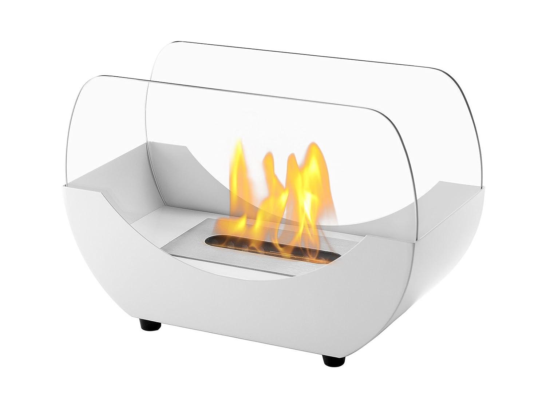 Amazon.com: Ignis Portable Tabletop Ventless Bio Ethanol Fireplace    Liberty (White): Home U0026 Kitchen