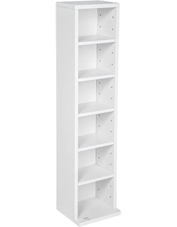 TecTake Estante de CD DVD Shelf archivado 102 CDs DVDs (Blanco | no. 401700