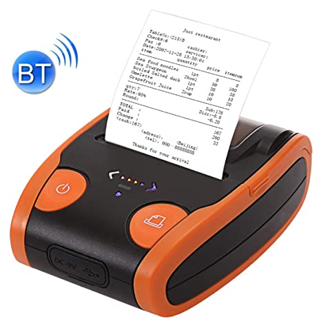 LLC-POWER Bluetooth Móvil Impresora Térmica De Recibos, 2 En 58MM ...