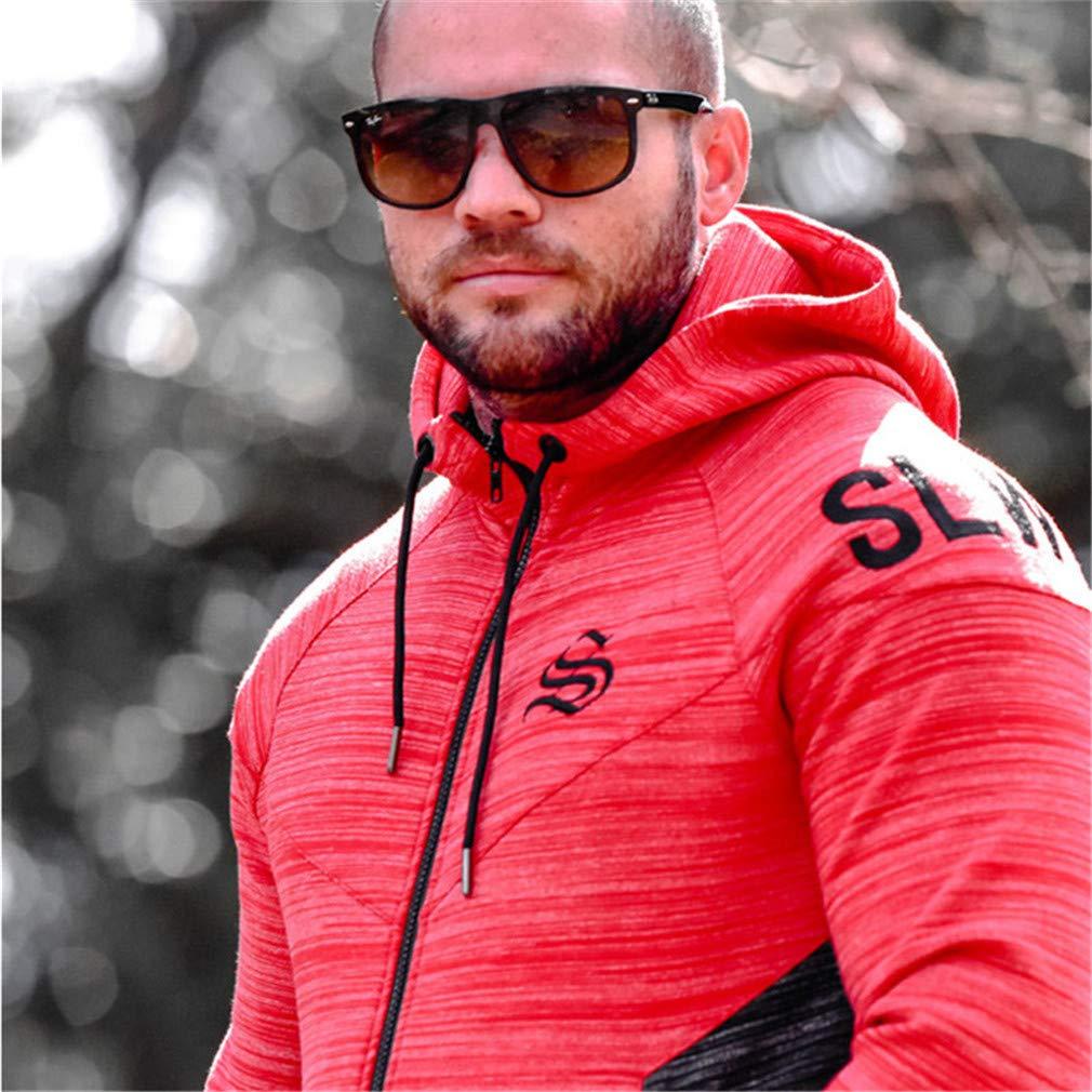 EQKWJ Winter Bodybuilding Hoodies Men Gyms Sweatshirts Long Sleeve Cotton Sportwear Fitness Pullover