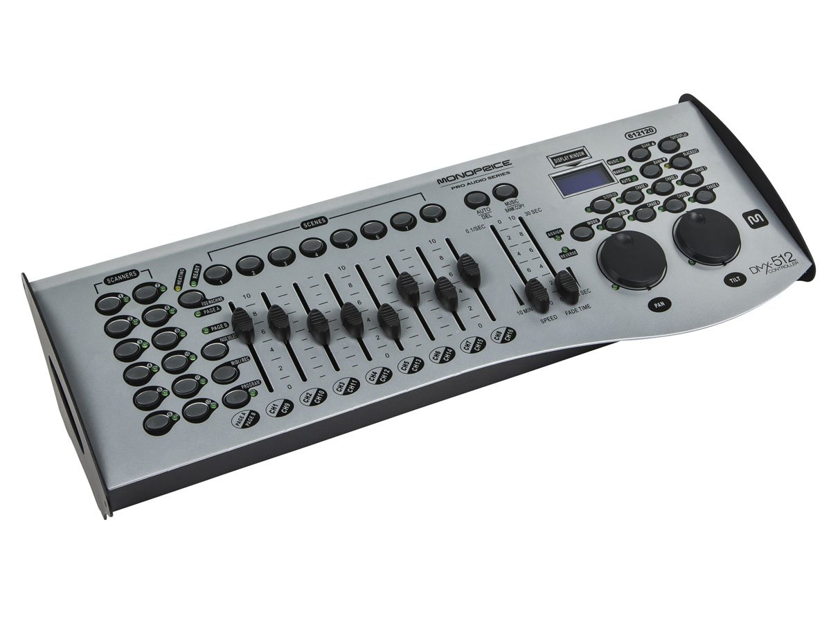 Monoprice Universal Dmx 512 Controller 16 Channel 5 Pin Wiring Midi Compatible Control Up To 12 Intelligent Lights Stage Right Series Musical