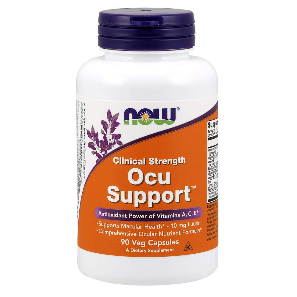 NOW Supplements, Ocu Support™with FloraGLO® Lutein, plus Vitamins A, C and E, 90 Capsules