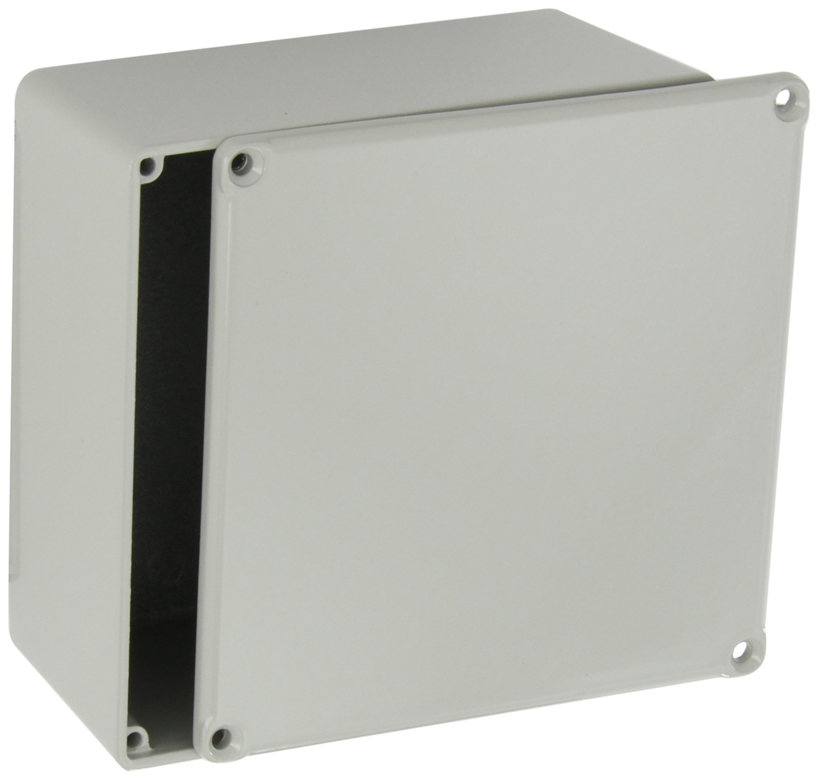 BUD Industries CU-474-G Aluminum Econobox, 4-3/4'' Length x 4-3/4'' Width x 2-21/64'' Height, Gray Painted Finish