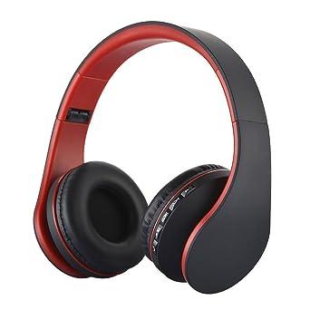KINGCOO Auriculares Plegables Inalambricos Bluetooth con soporte para Tarjeta MicroSD, Radio FM, Microfono para