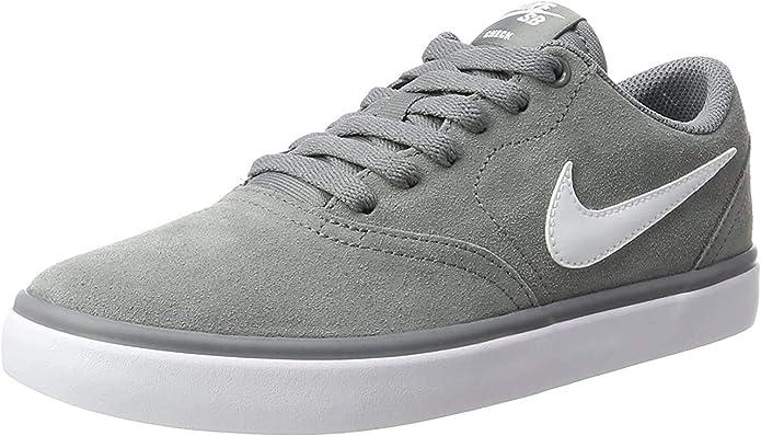 Nike SB Check Solarsoft Sneakers Skateboardschuhe Herren Grau/Weiß