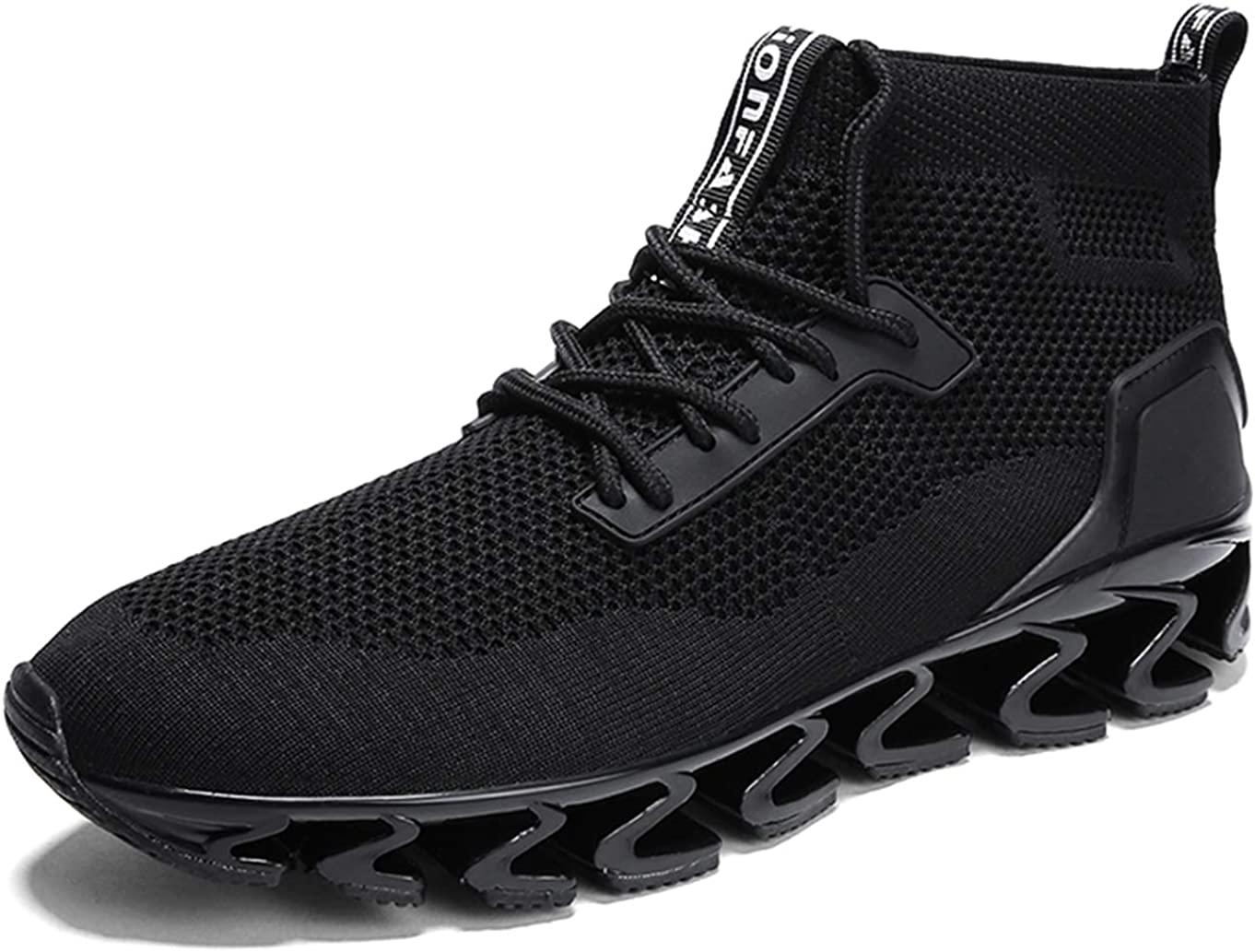 SKDOIUL Sports Sneakers for Men Mesh Breathable Fashion Youth Big Boys Trail Walking Shoes Black White Red