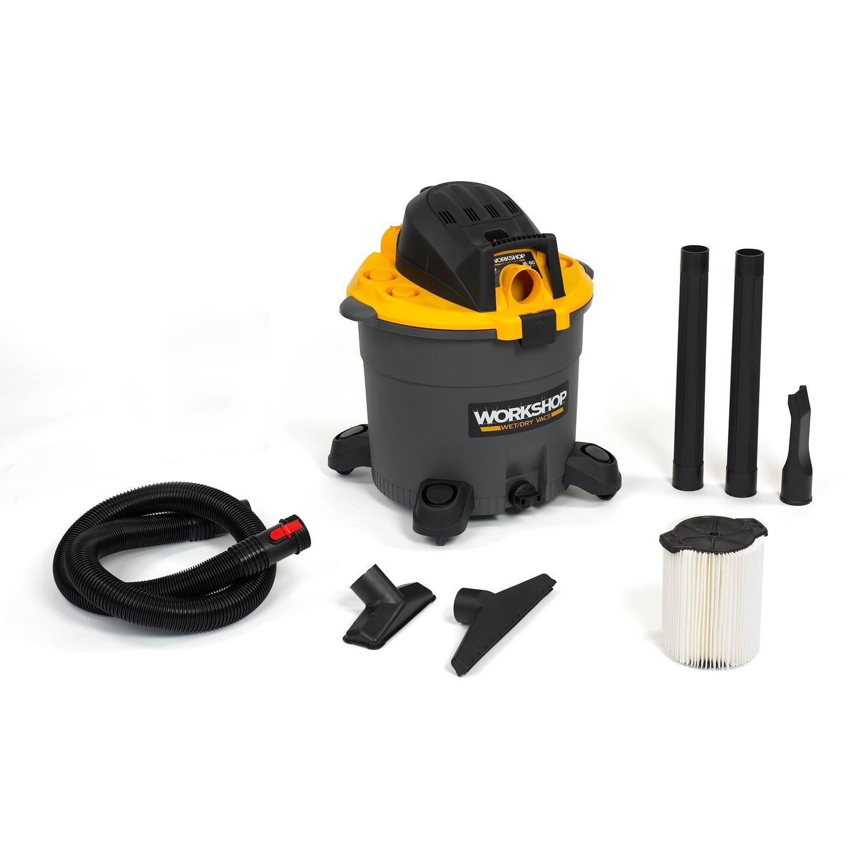 WORKSHOP Wet Dry Vac WS1600VA High Capacity Wet Dry Vacuum Cleaner, 16-Gallon Shop Vacuum Cleaner, 6.5 Peak HP Wet And Dry Vacuum by WORKSHOP Wet/Dry Vacs