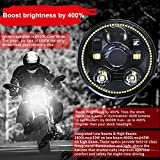 Wisamic 5-3/4 5.75 inch LED Headlight - with Halo