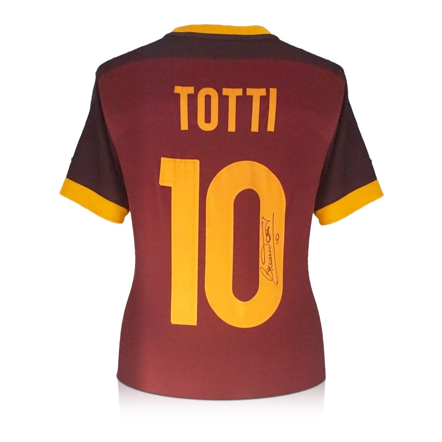 3c393679b Francesco Totti Signed AS Roma 2015-16 Authentic Home Jersey at Amazon s  Sports Collectibles Store