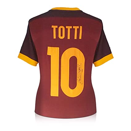 cc783ec92 Image Unavailable. Image not available for. Color  Francesco Totti Signed  AS Roma 2015-16 Authentic Home Jersey
