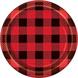 Buffalo Plaid Lumberjack Dessert Plates, 8ct