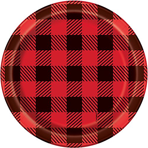 Buffalo Plaid Lumberjack Dessert Plates, 8ct (Plates Rustic For Sale)