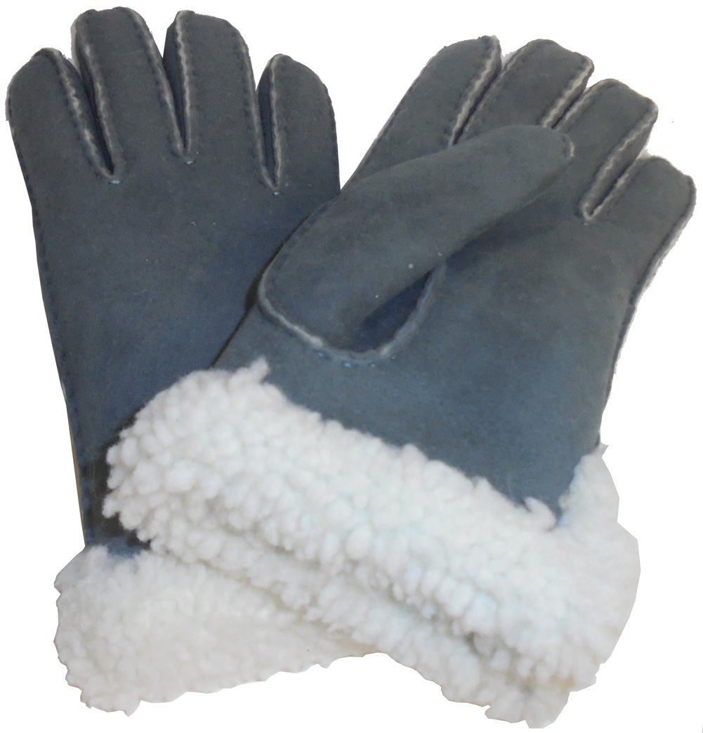 UGG Womens Sheepskin Slim Side Vent Glove In Norse Curly Size Large