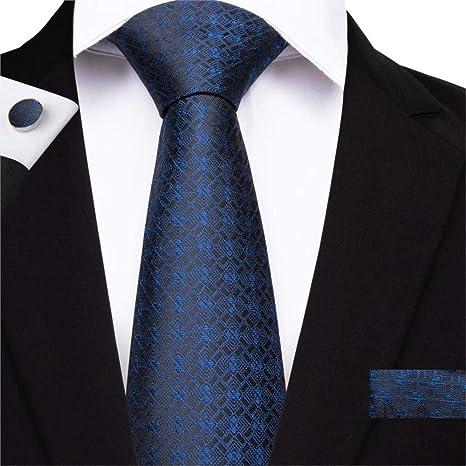 ZHAOSHUNAN Tie cravatta Dibangu Corbatas De Seda A Rayas Azules ...