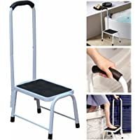 Kitchen Bath Non Slip Safety Step Stool Mobility Aid Handrail Platform Support by Crystals®