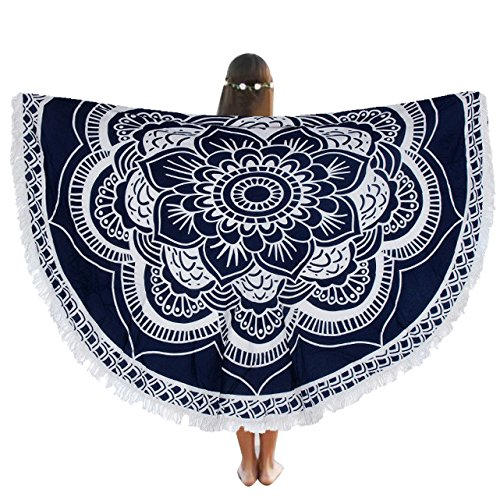 Ivory Custom Roll Runner (Round Beach Pool Home Shower Towel Blanket Polyester Selling 150cm Table Cloth Yoga Mat - Tablecloths)