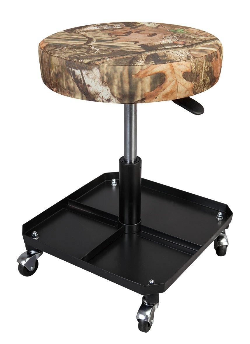 Torin Big Red Rolling Pneumatic Creeper Garage/Shop Seat: Padded Adjustable Mechanic Stool, Mossy Oak Camo by Torin