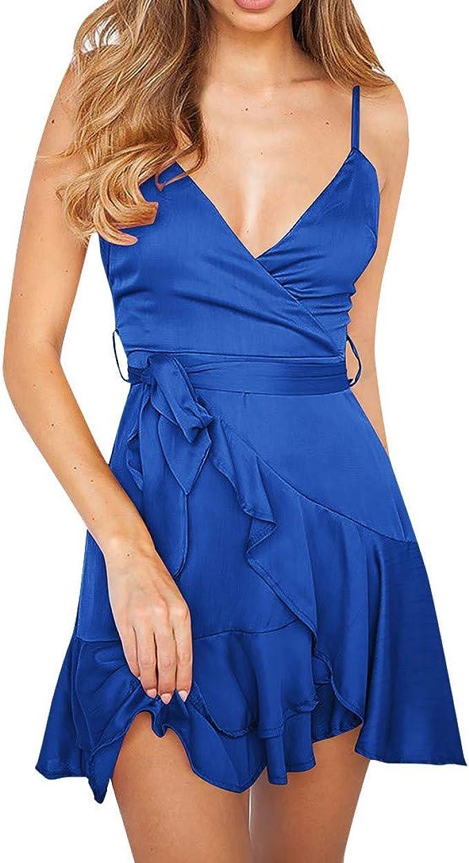 Damen Kleider, TWBB Damen Mode Sommerkleid Kurz Kleid Sexy