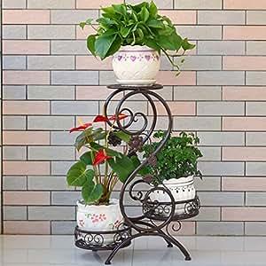 Flor de hierro de estilo europeo marco rábano verde multi - piso piso - flor de estilo balcones de interior y al aire libre baldosas de flores estante de flor de rábano verde
