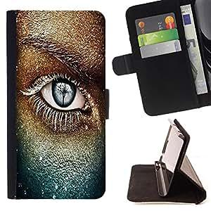 Dragon Case- Caja de la carpeta del caso en folio de cuero del tir¨®n de la cubierta protectora Shell FOR LG Optimus G2 D800 D801 D802 D803 VS980 F320- Beautiful Eye Eyes Girl