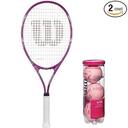 Amazon.com: Wilson Triumph Pre-Strung Oversized Pink/White ...