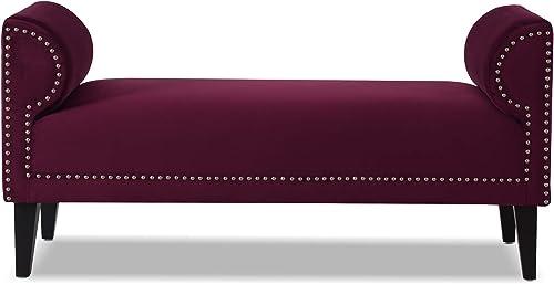 Editors' Choice: Jennifer Taylor Home Paloma bench Burgundy