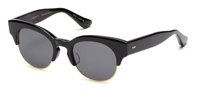 dd742bd6ce2 Amazon.com  Dita Liberty Black 18K Gold Dark Grey Mirror Sunglasses ...