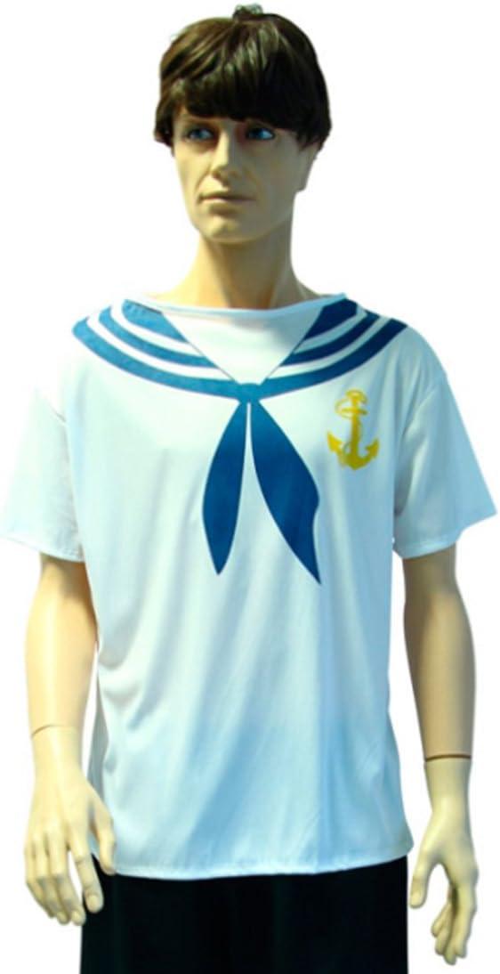 Amakando Traje Marino Disfraz Marinero M/L 50/52 Camisa Pescador ...