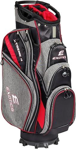 Tour Edge Male Exotics Xtreme4 Cart Bag Men s, Exotics Extreme 4 Cart Bag Gray Scratch Plaid Red