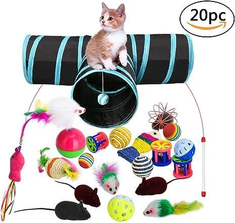 Juguetes para Gatos, 20 Piezas Juguete Interactivo para Gatos con ...