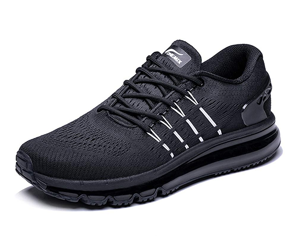 Black UB-ONEMIX Mens Lightweight Air Running shoes Breathable Gym Outdoor Unique Walking Sneakers