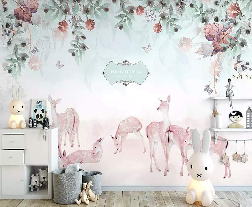 Amazon Com Murwall Nursery Wallpaper Zebra Wall Mural Floral