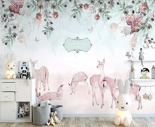 Amazon.com: Murwall Nursery Wallpaper Zebra Wall Mural Floral Garden Wall Art Vintage Flower Wall Decor Baby Room Play Room Children Rooms Kids Room: Handmade