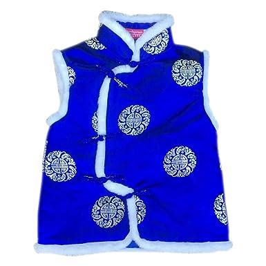 DAZISEN Sin Mangas Chaqueta para Niño - Chaquetas Chaleco Traje Tang Outwear Trajes Tradicionales Chinos Abrigos: Amazon.es: Ropa y accesorios