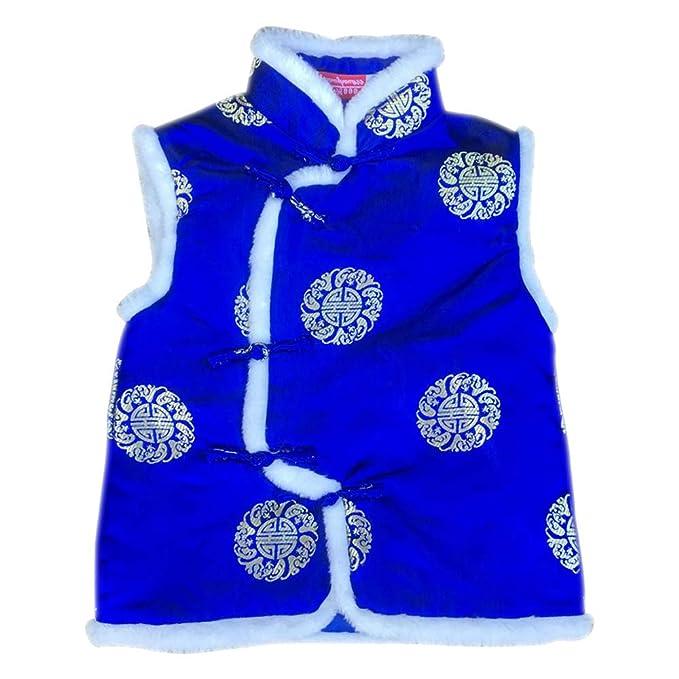 XFentech Niño Sin Mangas Chaqueta - Chaquetas Chaleco Traje Tang Trajes Tradicionales Chinos Outwear Abrigos: Amazon.es: Ropa y accesorios