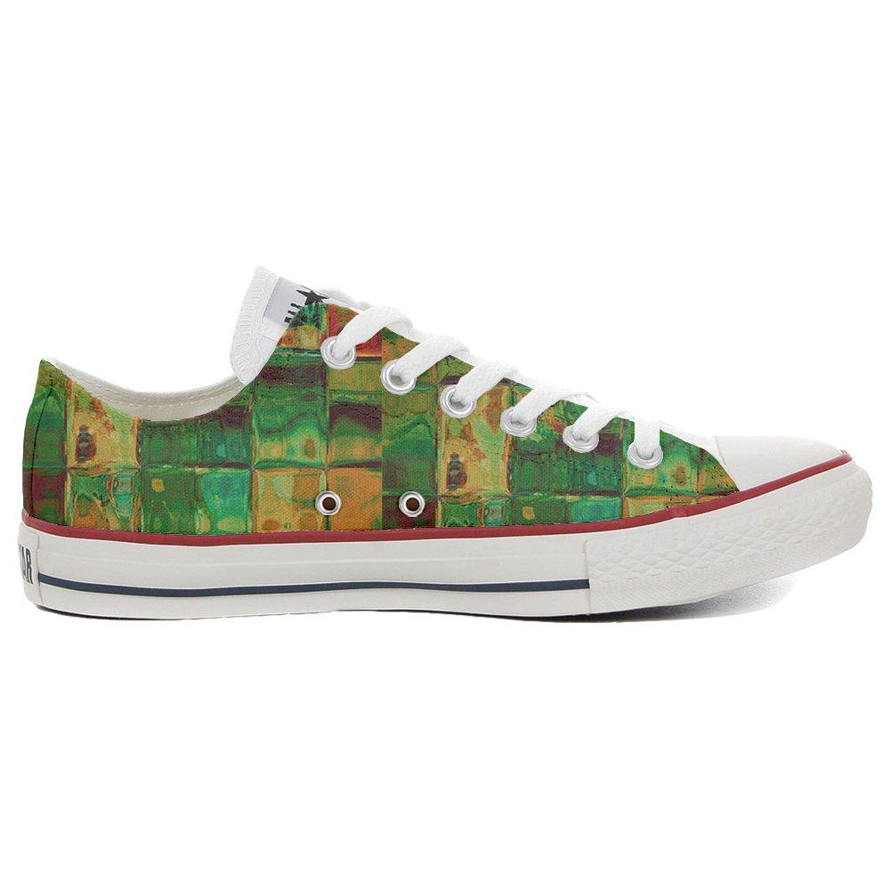Converse Custom Slim personalisierte Schuhe (Handwerk Produkt) Design Texture  36 EU