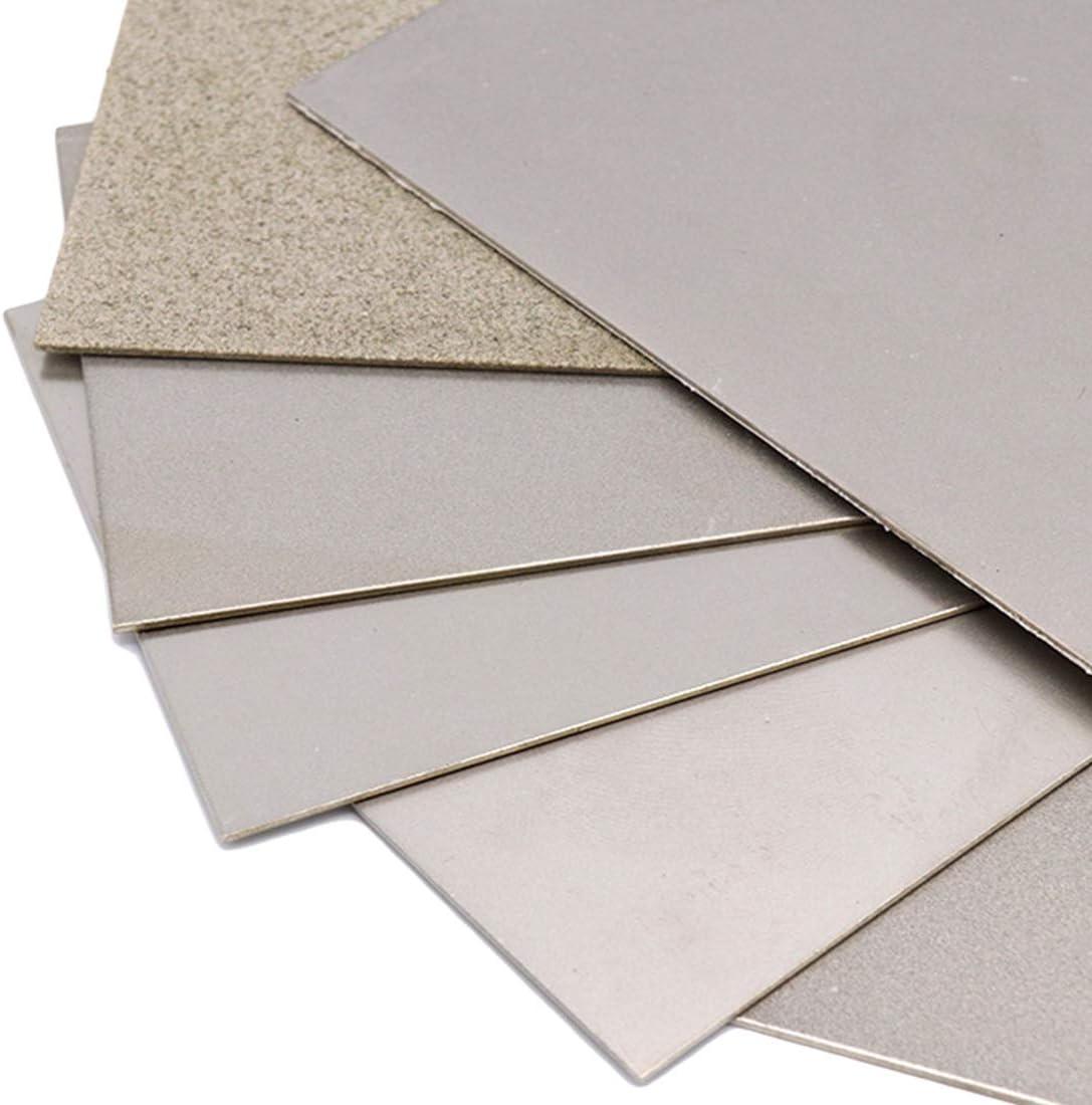 240 Grits Diamond Sharpening Stones Thin Grinding Polishing Diamond Square Sharpener Tool Whetstone Plate TOOLSTAR Sharpening Stone