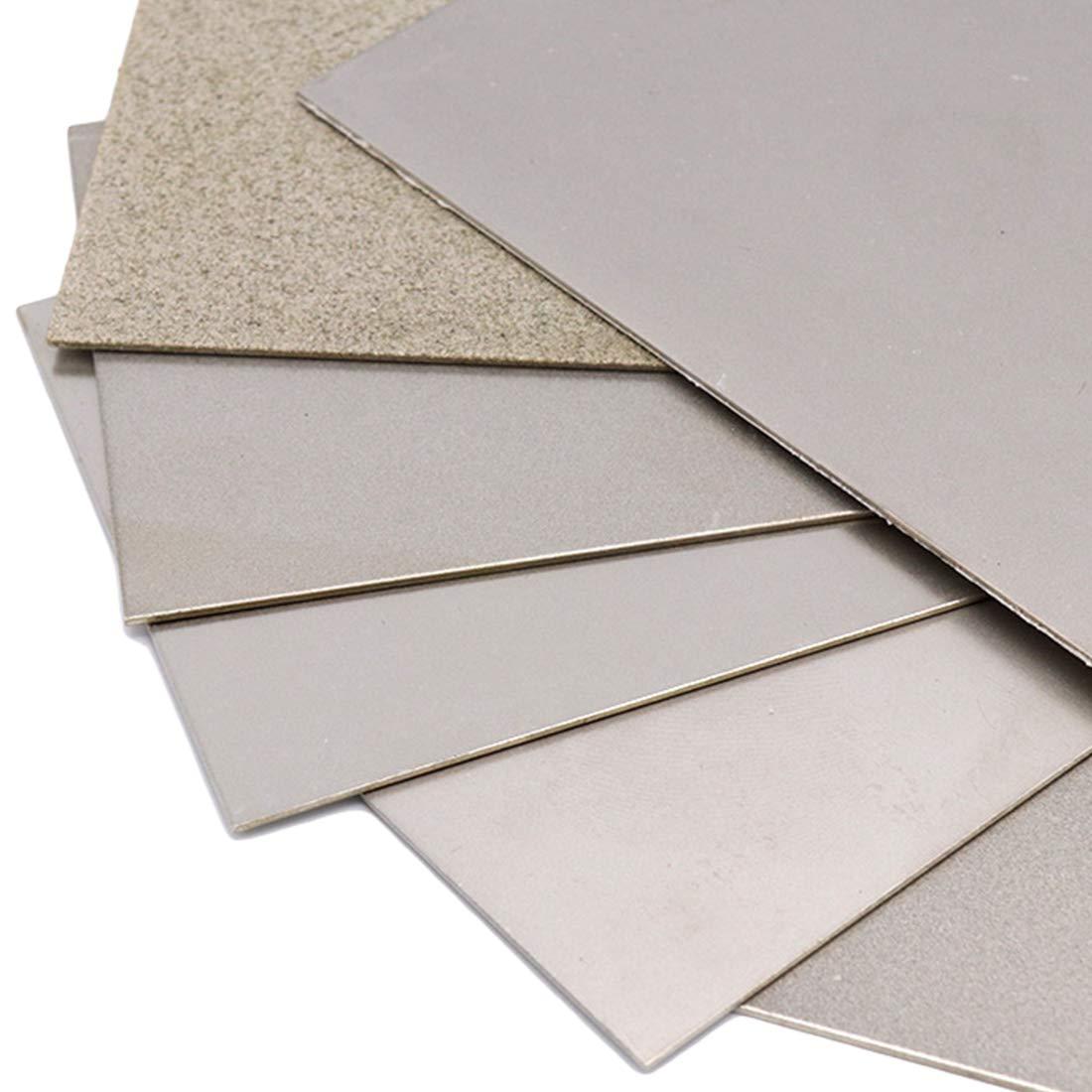 TOOLSTAR Sharpening Stone 80 Grits Diamond Sharpening Stones Thin Grinding Polishing Diamond Square Sharpener Tool Whetstone Plate