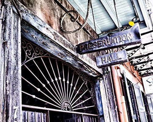 Fine Art Photography New Orleans - New Orleans picture Preservation Hall Photo 8x10 inch Print